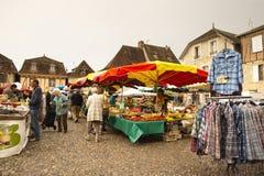 Saturday market Bretenoux France Royalty Free Stock Photo