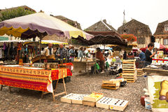 Saturday market Bretenoux France Royalty Free Stock Photo