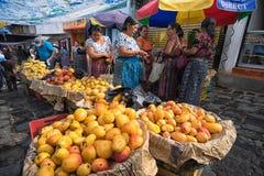 Saturday market in San Pedro la Laguna Guatemala Stock Images