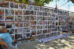 Saturday Mothers (Cumartesi Anneleri) Gezi Park resistance Photo. Istanbul, Turkey - June 9, 2013:  Saturday Mothers Gezi Park resistance Photography exhibition Royalty Free Stock Images