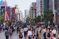 Saturday on Nanjing Lu in Shanghai Stock Image