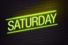 Saturday neon sign Royalty Free Stock Photos