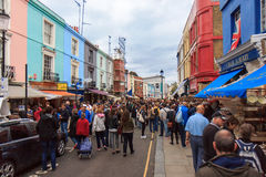 Saturday view of Portobello Market, London Royalty Free Stock Photo