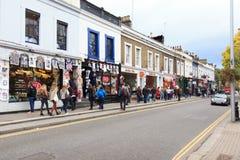 Saturday view of Portobello Market, London Royalty Free Stock Images