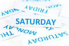 Saturday word texture background Royalty Free Stock Image