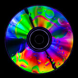 Psychedelic CD. Satured colors for this CD with oil drops on the surface Stock Image