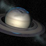 Saturn. A 3d render of the planet Saturn Stock Image