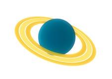 Saturn. Illustration-Saturn on wihte background Stock Photography