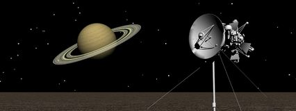 Saturn. Planet saturn and sky black Royalty Free Stock Image