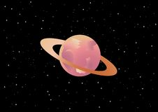 Saturn. Computer generated illustration of Saturn Stock Photo