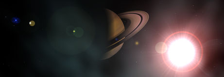 Saturn. This is Saturn illuminated by the sun Royalty Free Stock Photography