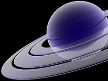 Saturn. The blue planet saturn  3d illustration Stock Photography