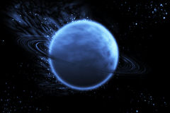 Saturn blue. Abstract saturn blue and constellation Stock Photo