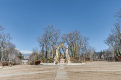 Saturn-Brunnen an La Granja-Palast, Spanien Lizenzfreies Stockfoto