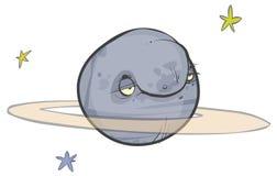 Saturn caroonplanet Arkivfoto