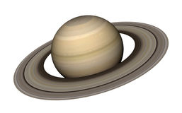 Saturn. 3d rendering of the planet Saturn isolated over white background. Elements of this image furnished by NASA Royalty Free Stock Photos