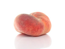 Saturn or donut peach  on white background Royalty Free Stock Photos