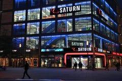 Saturn elektronika sklep obrazy stock