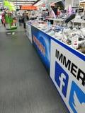 Saturn-Elektronisch winkelen stock afbeelding