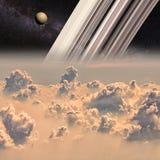 Saturn et titan illustration de vecteur