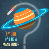 Saturn Flat Design Concept Royalty Free Stock Images