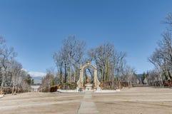 Saturn fountain at La Granja Palace, Spain Royalty Free Stock Photo