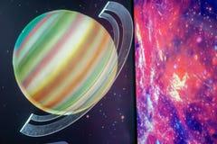 Saturn modeluje gwiazdy, naukowi pojęcia Obraz Royalty Free