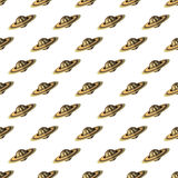 Saturn pattern seamless Royalty Free Stock Images