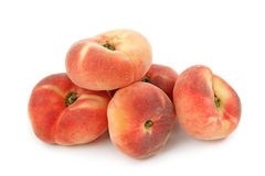 Saturn peaches. Isolated on white background Royalty Free Stock Photo