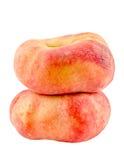 Saturn peaches, also known as Donut (Doughnut) peaches Royalty Free Stock Photos