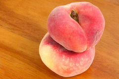 Saturn Peaches, known as flat Donut peach Royalty Free Stock Photography