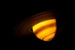 Saturn-planeet met ringen stock afbeeldingen