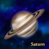 Saturn-planeet vectorillustratie Royalty-vrije Stock Fotografie