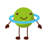 Saturn planet comic character Stock Photo