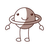 Saturn planet comic character Stock Image