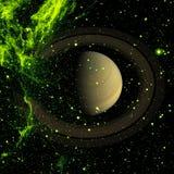 Saturn - Planet des Sonnensystems Elemente dieses Bildes geliefert von der NASA stockbild