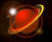 Saturn planet illustration on black. Saturn  planet illustration on black background Royalty Free Stock Image
