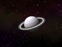 Saturn-Planet im Sonnensystemgrafikdesign Stockfoto