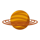 Saturn planet isolated icon Royalty Free Stock Images
