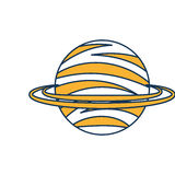 Saturn planet isolated icon Stock Image