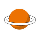 Saturn planet isolated icon Stock Images