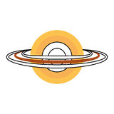 Saturn planet isolated icon Royalty Free Stock Photo