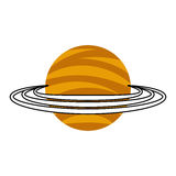 Saturn planet isolated icon Stock Photos