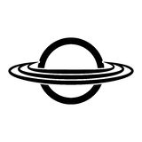 Saturn planet isolated icon Royalty Free Stock Photography