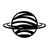 Saturn planet isolated icon Royalty Free Stock Image