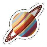 saturn planet space shadow Stock Image
