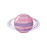 Saturn Planet. Sun System. Universe. Vector Royalty Free Stock Photo