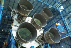 Saturn 5 Rocket Engines Arkivbild