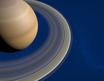 Saturn's rings Stock Images