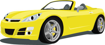 Saturn Sky Sports Car. An illustration of a Saturn Sky Sports Car isolated on white. Saved in labeled layers for easy editing. See my portfolio for more royalty free illustration